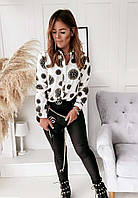 Сорочка жіноча біла з малюнком SKL11-290519