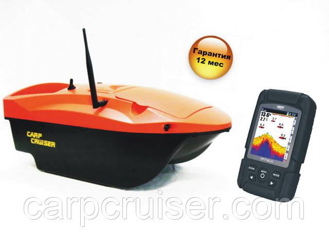 Короповий кораблик Carp Cruiser boat OF7-CWL для завезення прикормки наживки з кольоровим ехолотом Lucky FF718-LiC-WL