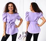 "Стильная блуза с короткими рукавами фонарик ""Betty"", фото 2"