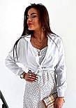 """Укороченная женская рубашка на завязках """"Viola"""", фото 2"""