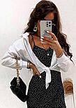 """Укороченная женская рубашка на завязках """"Viola"""", фото 3"""