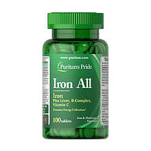 Минеральный комплекс Puritan's Pride IRON All 100 таблеток