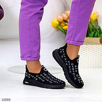 """Жіночі текстильні кросівки Чорні """"Shine"""""""
