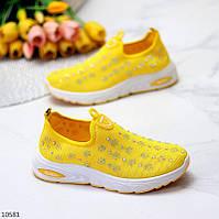 """Жіночі текстильні кросівки Жовті """"Shine"""""""