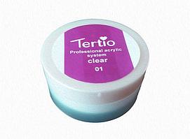 Пудра акриловая прозрачная для наращивания ногтей, Tertio, 30 гр