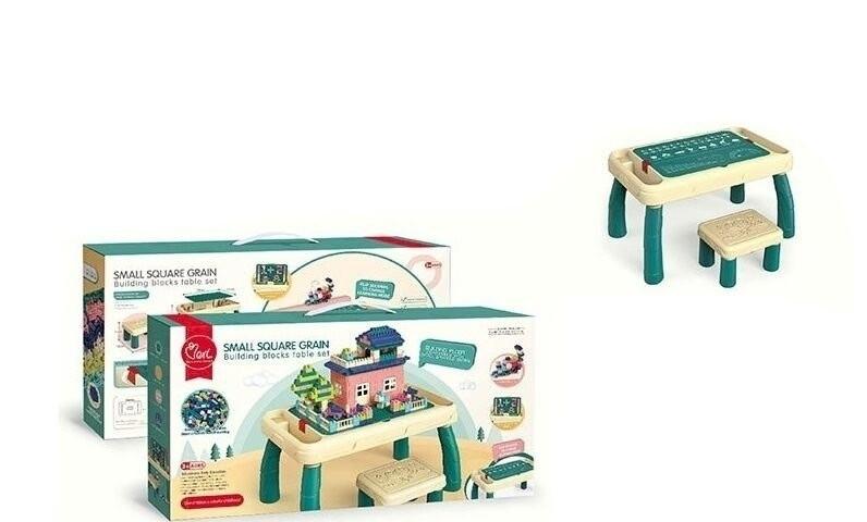 Игровой столик 6060 Y 2в1, стульчик, конструктор 120 деталей