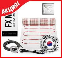 Теплый пол под плитку электрический FX MAT 5м2 (10мп) 750 ват Корея в тефлоновой изоляции