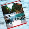 Тетрадь школьная в линию 12 листов Лидер, водопад, фото 4