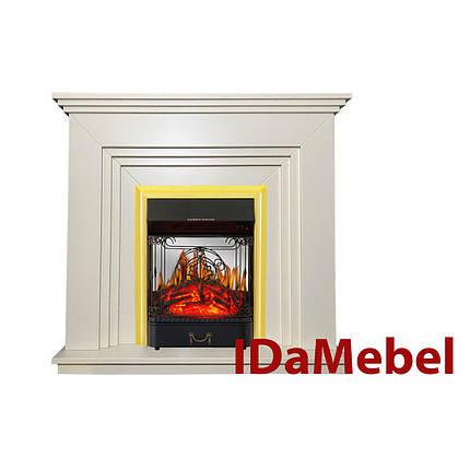 Каминокомплект IDaMebel Gloria Белый Majestic Brass, фото 2
