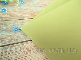 Фоамиран, цвет ОЛИВКОВЫЙ, 2 мм, 50х50 см