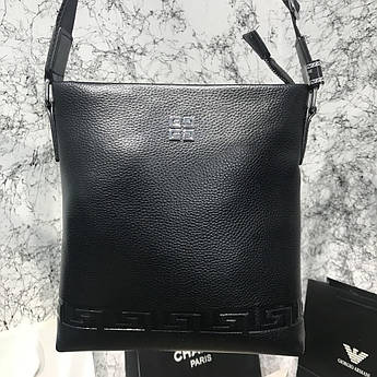 Сумка мессенджер Givenchy Embossed Canvas Black