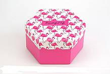 Подарочная коробка Шестигранная Жизнь прекрасна 20*10см