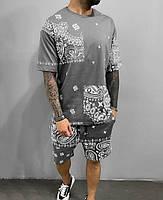 Чоловічий літній спортивний костюм Футболка+шорти,мужская спортивная одежда на лето S, M, L, XL, XXL