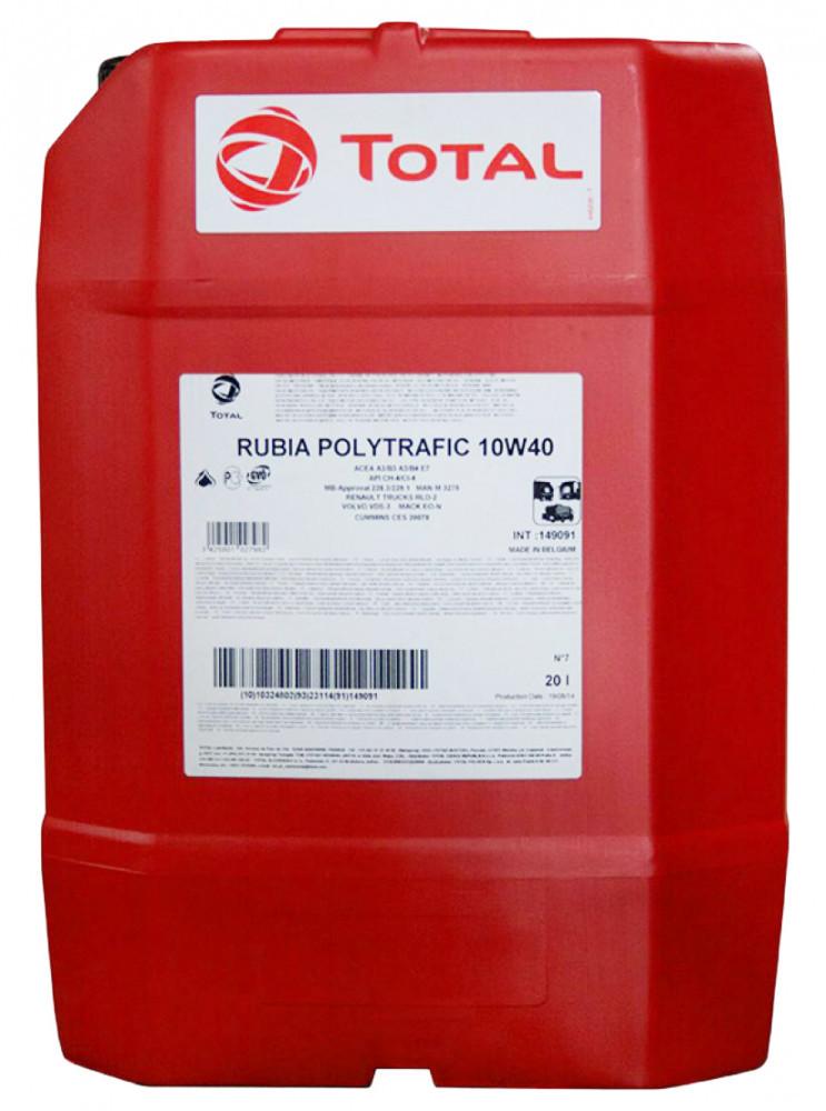 Моторное масло Total Rubia Polytrafic 10W-40 20л (149091)