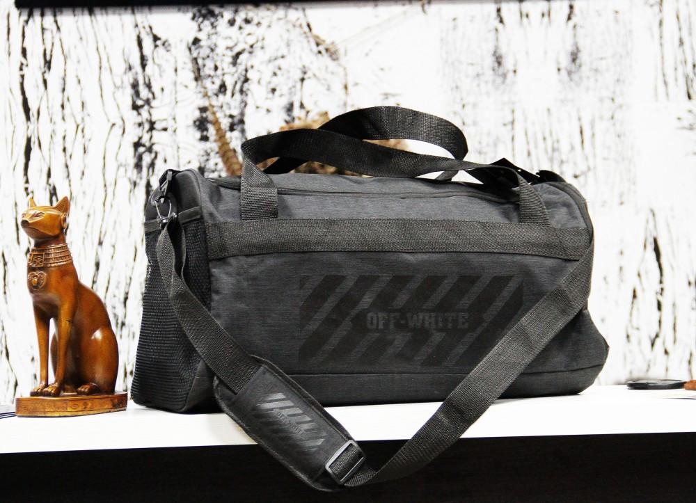Спортивная сумка Off-White standart антрацит