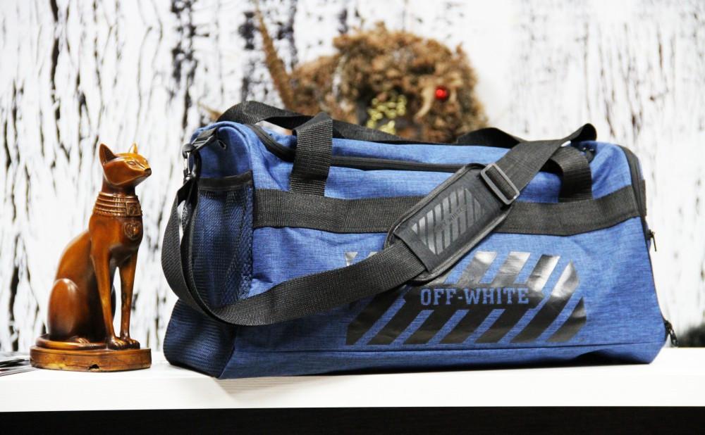 Спортивна сумка Off-White standart синя