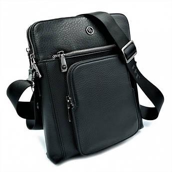 Мужская кожаная сумка H.T.Leather Чёрного цвета 5499-3