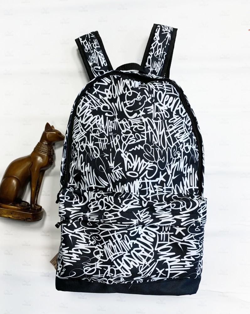 Рюкзак Сalligraphy чорно-білий