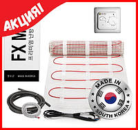 Теплый пол элетрический под плитку FX MAT 10м2 (20мп) 1500 ват Корея в тефлоновой изоляции