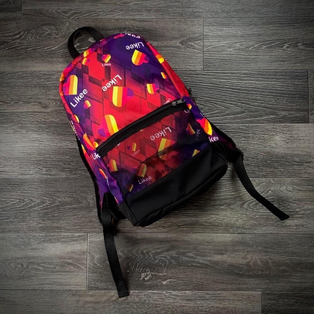 Рюкзак фіолет з принтом Likee