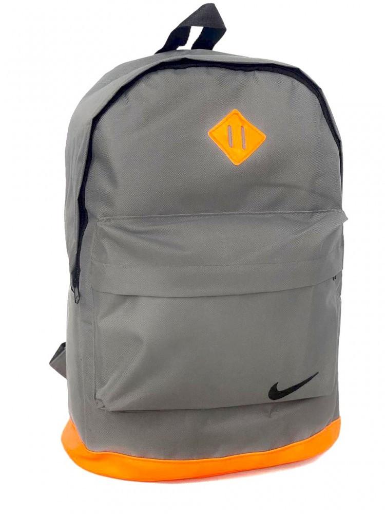 Рюкзак шкір. дно сірий/ дно оранж.