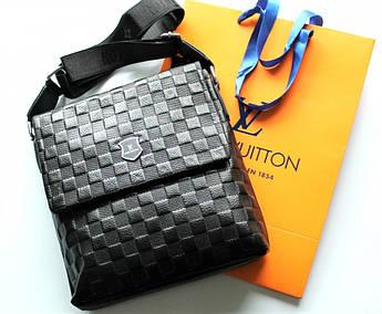 Мужская кожаная сумка Louis Vuitton черная