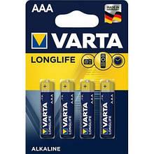 Батарейка Varta AAA Longlife LR03 * 4 (04103101414)