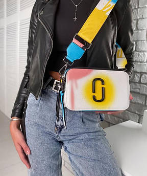 Женская сумка-клатч через плечо Marc Jacobs Snapshot Camera Bag Airbrushed yellow