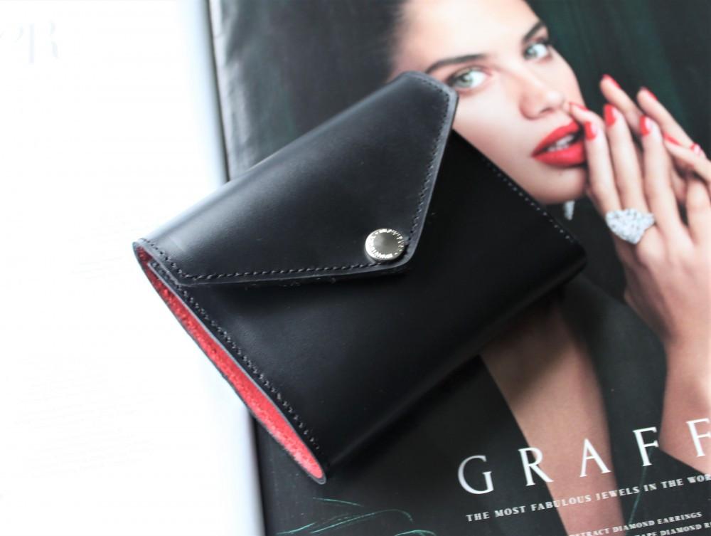 """Жіночий шкіряний гаманець """"Ossidiana"""" чорний"""