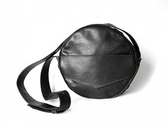 """Женская сумка-рюкзак """"Transformer"""" из натуральной кожи черная"""