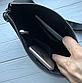 Чоловіча шкіряна сумка-месенджер Philipp Plein black, фото 4
