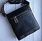 Чоловіча шкіряна сумка-месенджер Philipp Plein black, фото 6