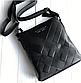 Чоловіча шкіряна сумка месенджер Burberry black, фото 2