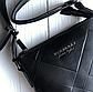 Чоловіча шкіряна сумка месенджер Burberry black, фото 4