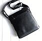 Чоловіча шкіряна сумка месенджер Burberry black, фото 6