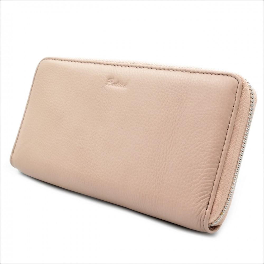 Женский кожаный кошелек Weatro 570-B149-6 Пудровый