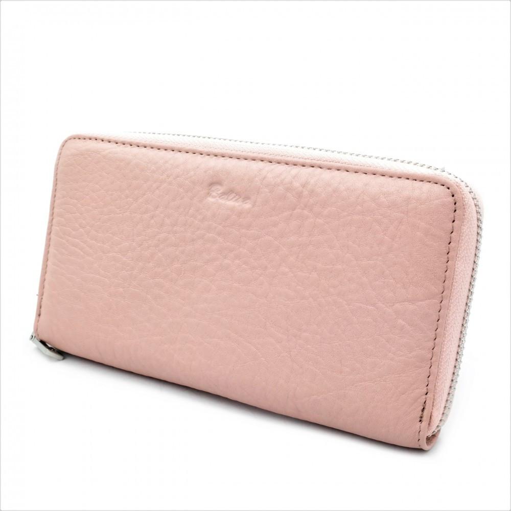 Женский кожаный кошелек Weatro 570-B149-1 Розовый