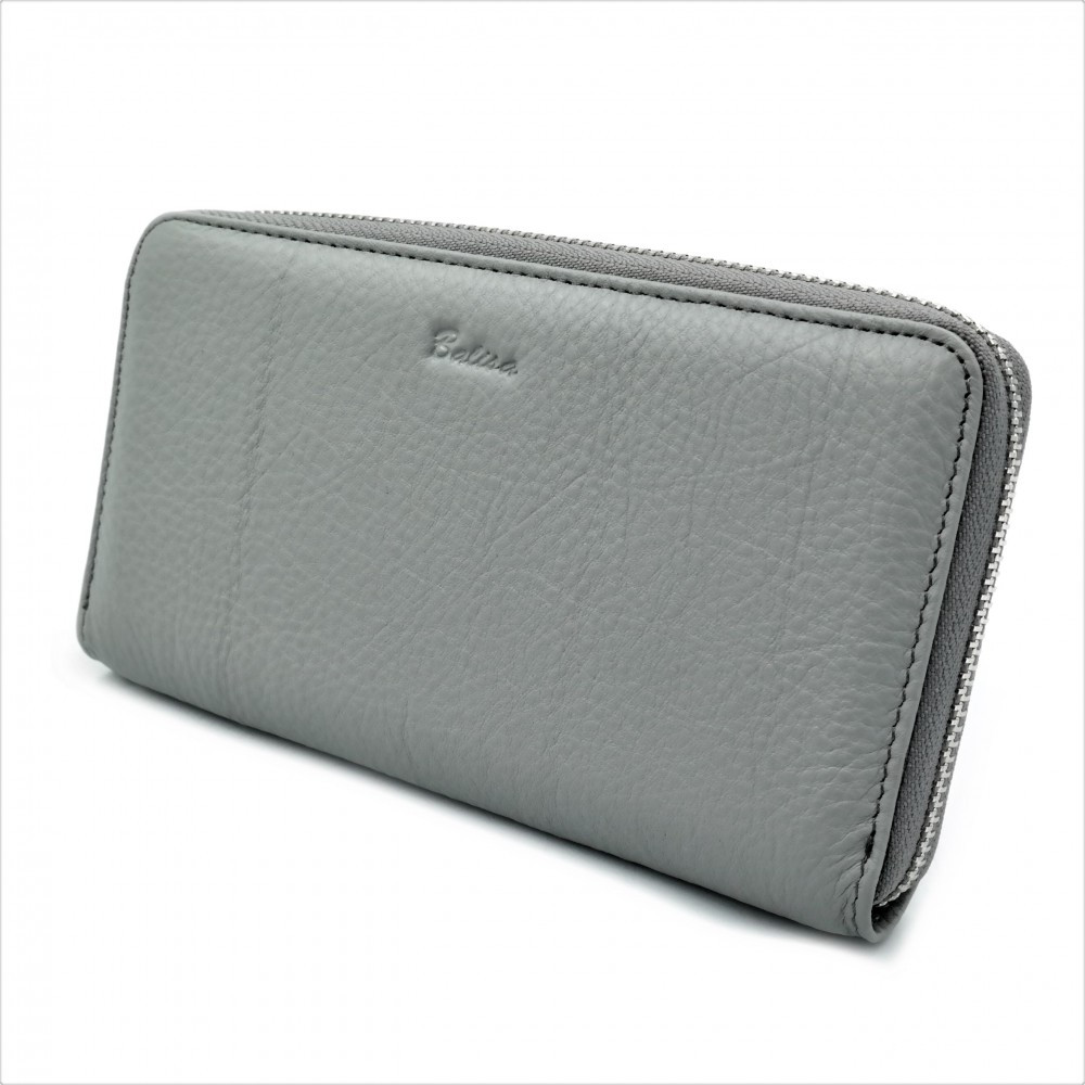 Женский кожаный кошелек Weatro 570-B149-3 Серый