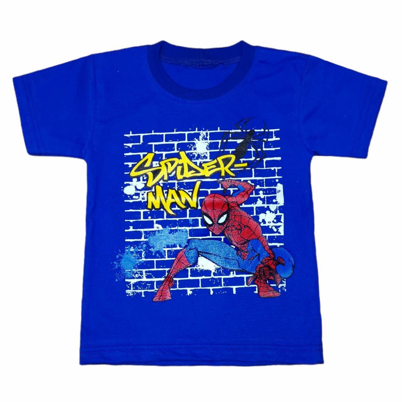 Футболка дитяча для хлопчика з принтом Spiderman кулір