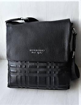 Мужская кожаная сумка Burberry black