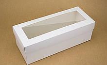 Подарочная коробка для бутылки Белый 33х14х12 см