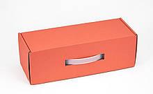 Подарочная коробка для бутылки Коралл 33х12х11см
