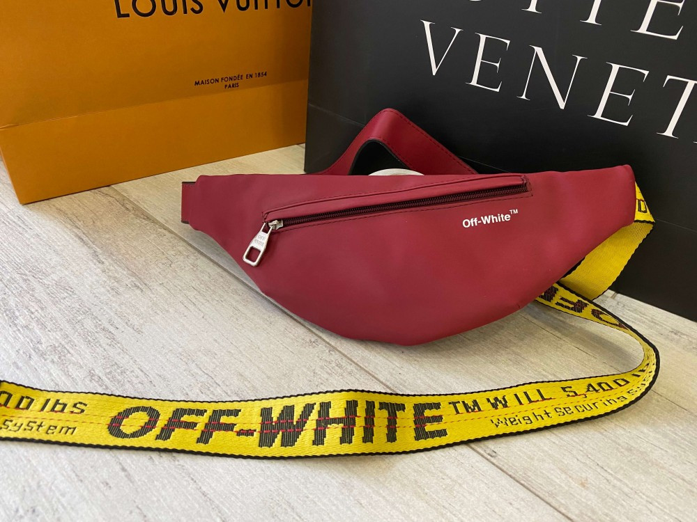 Бананка Off White Rubber Red