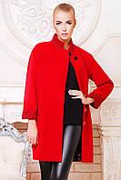Пальто женское оверсайз красное Клоди, фото 1