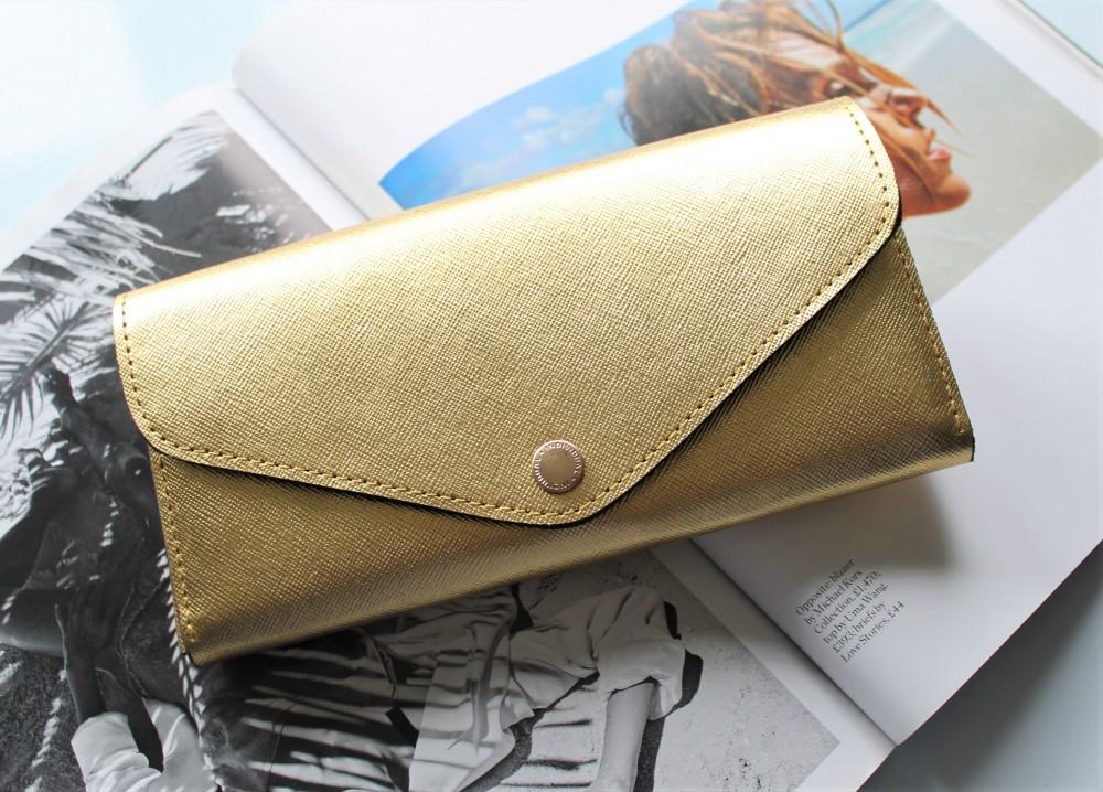 """Шкіряний жіночий гаманець ручної роботи """"Fenice"""" золотий"""