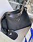 Женская сумка Prada Nylon Shoulder Bag Black, фото 2