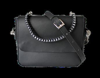 """Женская кожаная сумка """"Tessitura"""" черная"""