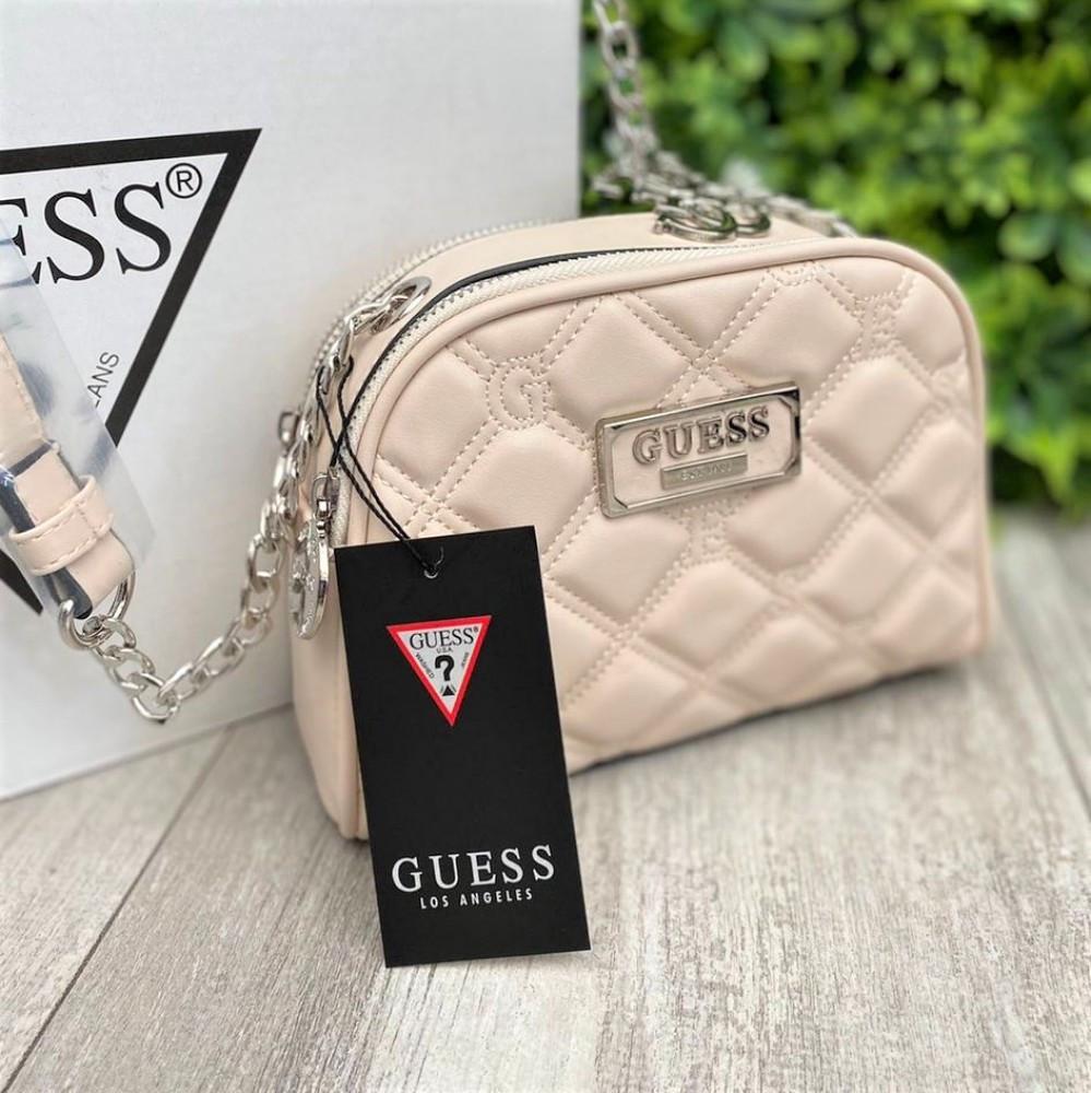Жіноча сумка Guess бежева
