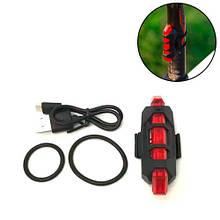 Фонарь велосипедный задний аккумуляторный велофонарь, красный свет