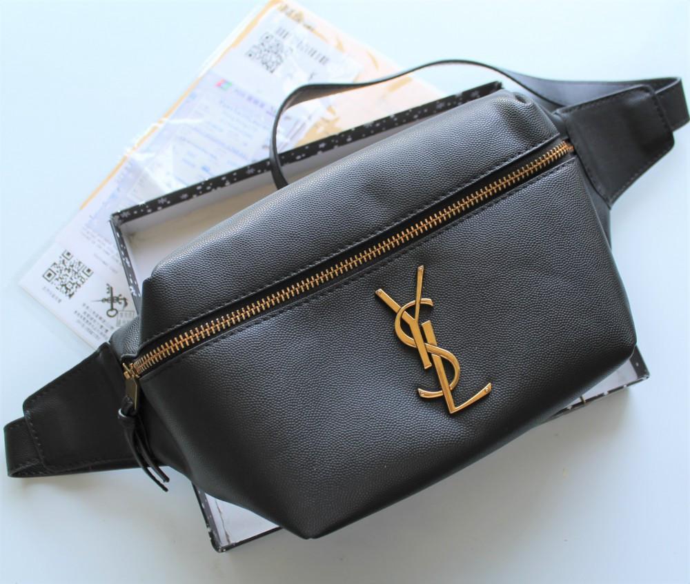 Жіноча сумка бананка Yves Saint Laurent чорна
